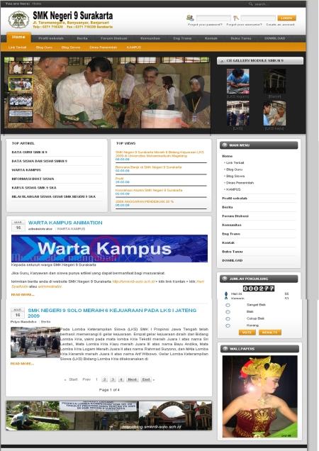 Website SMK Negeri 9 Surakarta '09